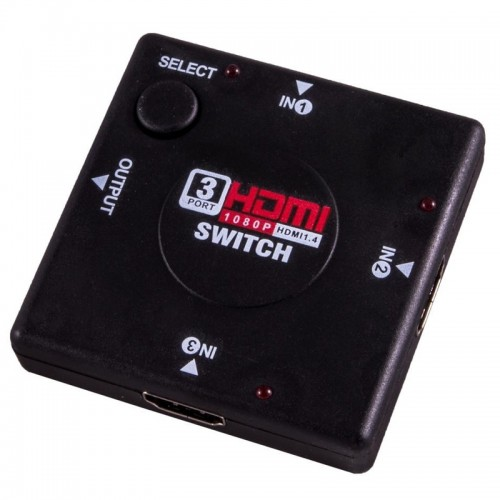 HDMI Switch 3XIN 1XOUT EB266 (Μαύρο)