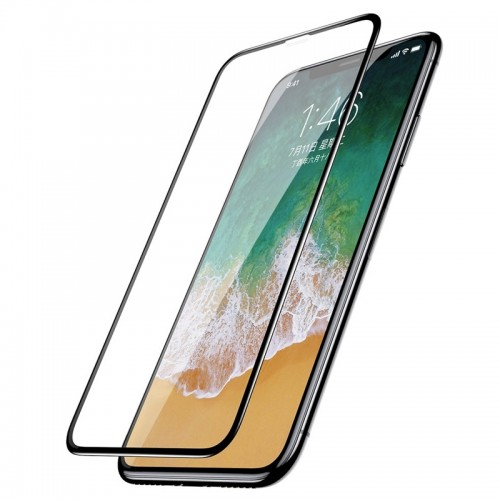 Baseus Full Cover 3D Curved Tempered Glass για iPhone X/XS (Μαύρο)