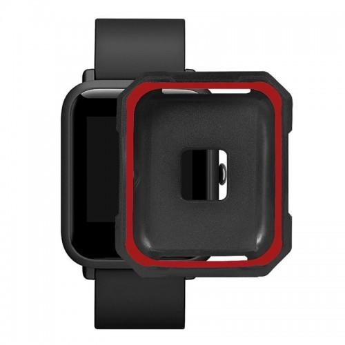Προστατευτικό Κάλυμμα OEM για Xiaomi Amazfit Bip (Κόκκινο - Μαύρο)