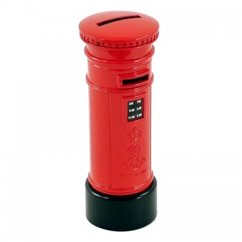 Μεταλλικός Κουμπαράς σε Σχήμα Ταχυδρομικού Κουτιού (Κόκκινο)