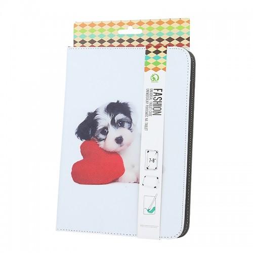Θήκη Tablet Puppy Heart Flip Cover για Universal 7-8'' (Design)
