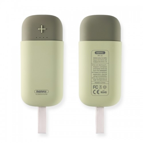 Power Bank Remax Camaroon RPL-32 5000mAh (Γκρι)