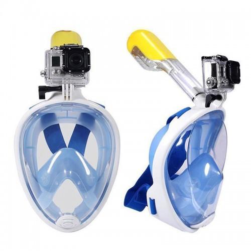 Μάσκα Κατάδυσης Full Face με αναπνευστήρα (Άσπρο-Μπλε)