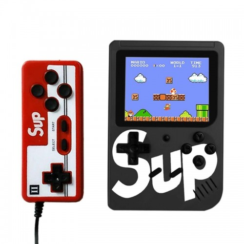 Retro Portable Mini Game Console Sup με Gamepad και 400 Παιχνίδια (Μαύρο)