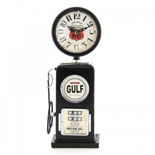 Vintage Μεταλλικό Ρολόι Αντλία Βενζίνης Gulf