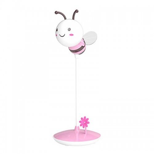 Επιτραπέζιο Φωτιστικό σε Σχήμα Μέλισσα με USB (Ροζ)