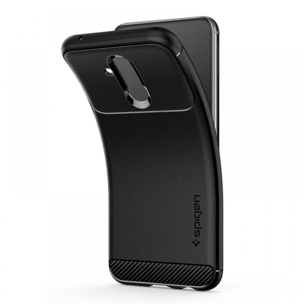 3b1aba677c ... Θήκη Spigen Rugged Armor Back Cover για Huawei Mate 20 Lite (Μαύρο Ματ)  ...