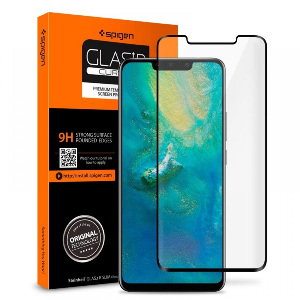 Tempered Glass Spigen Curved Crystal για Huawei Mate 20 Pro (Black)