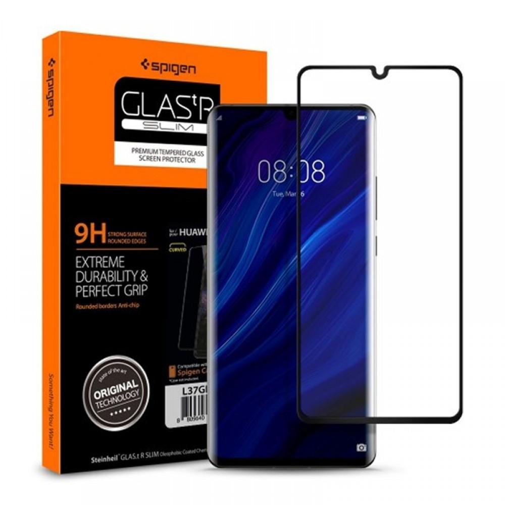 Tempered Glass Spigen Curved Crystal για Huawei P30 Pro (Black)