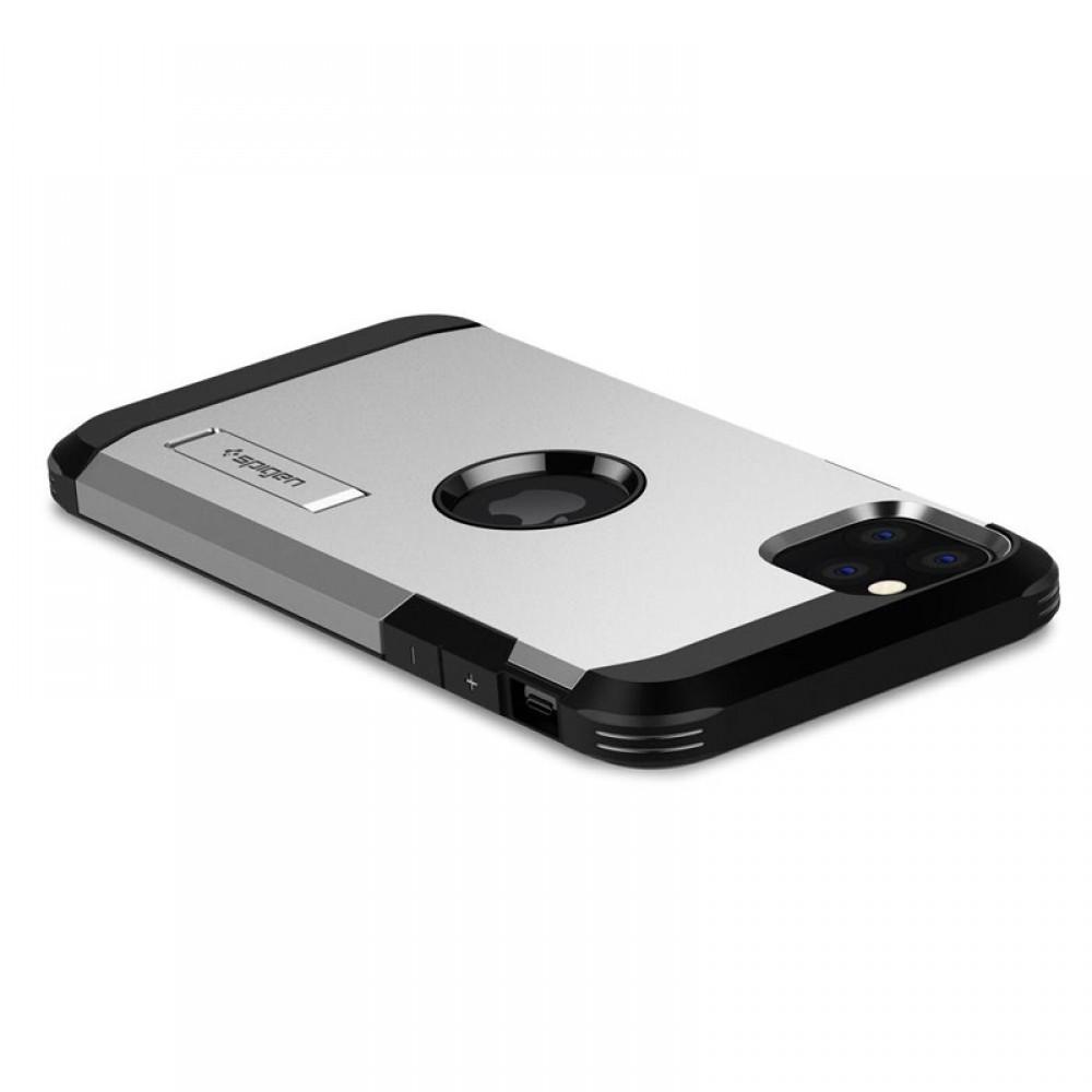Θήκη Spigen Tough Armor Back Cover για iPhone 11 Pro Max (Satin Silver)