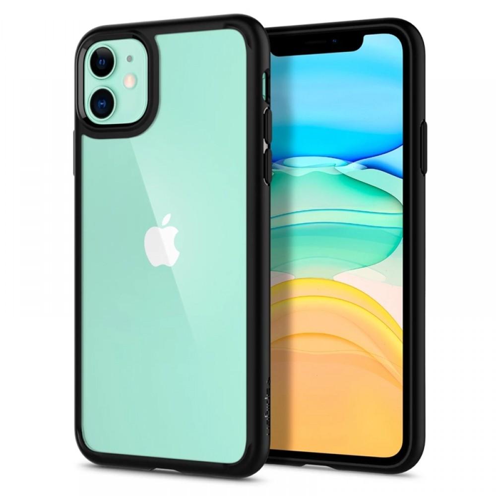 Θήκη Spigen Ultra Hybrid Back Cover για iPhone 11 (Μαύρο Ματ)