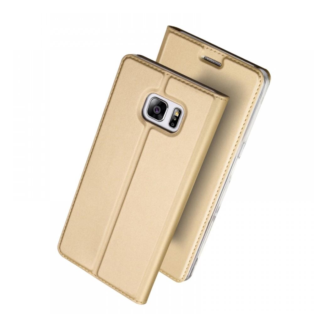 Θήκη Dux Ducis SkinPro Flip Cover για Huawei Y7 2019 (Χρυσό)