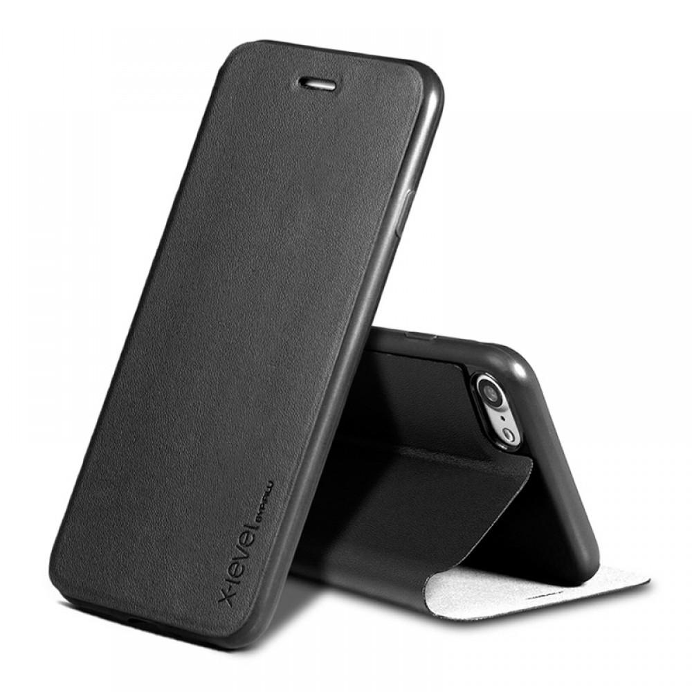 Θήκη X-Level Fib Color Flip Cover για iPhone 11 Pro Max (Μαύρο)