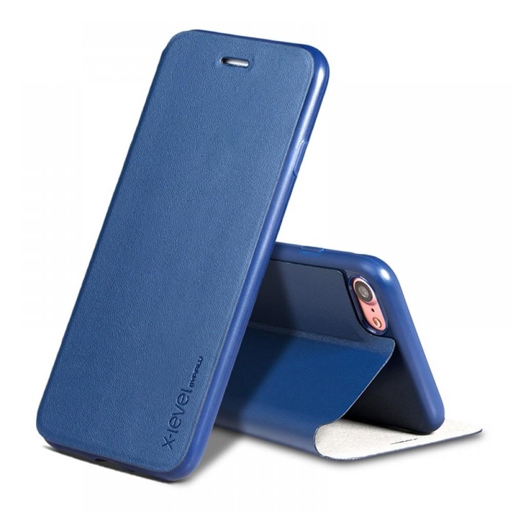 Θήκη X-Level Fib Color Flip Cover για iPhone 11  (Μπλε)
