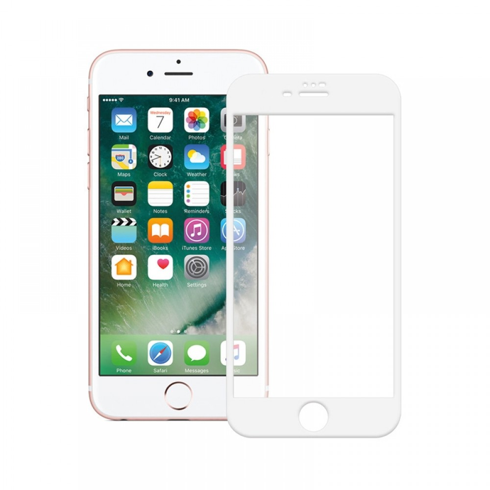 Tempered Glass Powertech 5D TGC-0232 για iPhone 7 Plus (White)