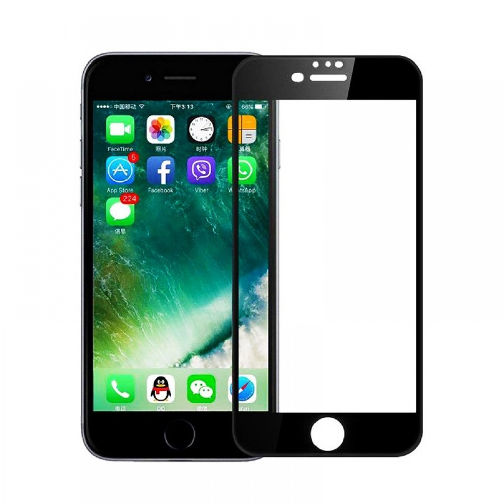 Tempered Glass Powertech 5D TGC-0233 για iPhone 7 Plus (Black)