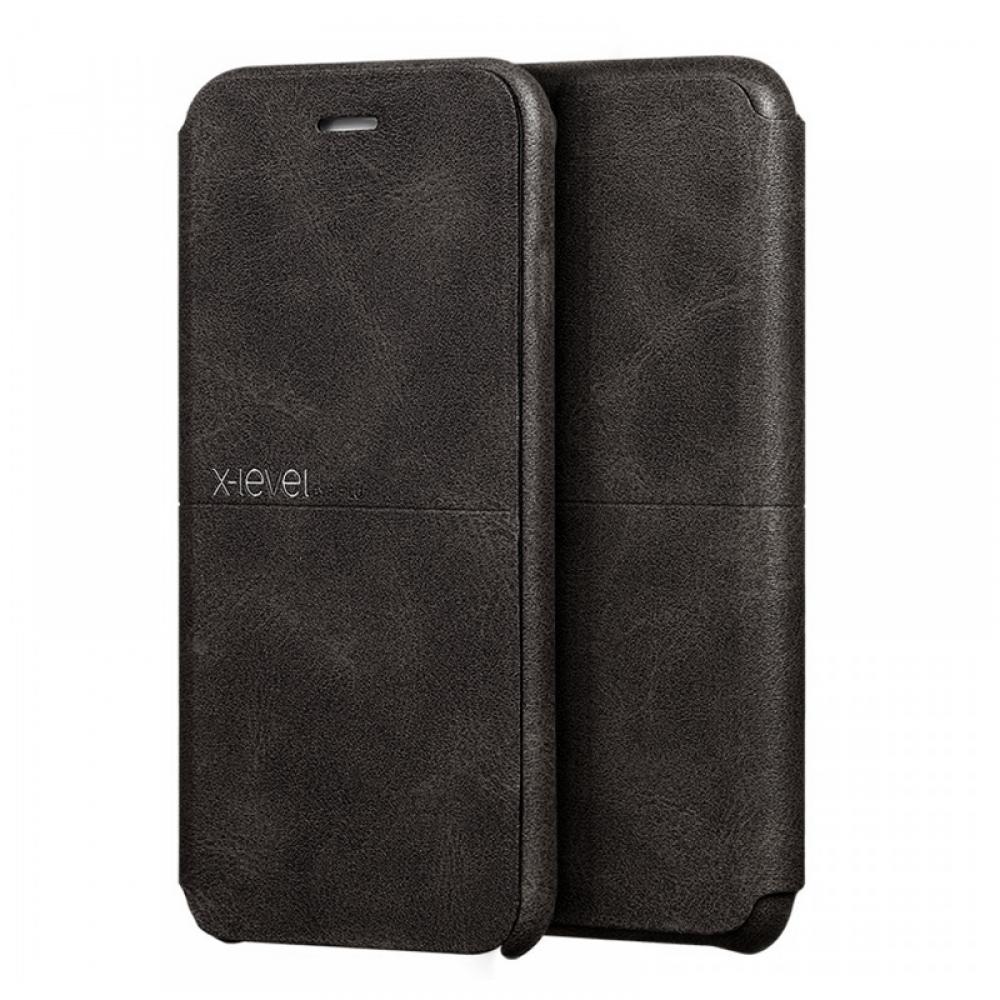 Θήκη X-Level Extreme Flip Cover για iPhone 11 (Σκούρο Καφέ)