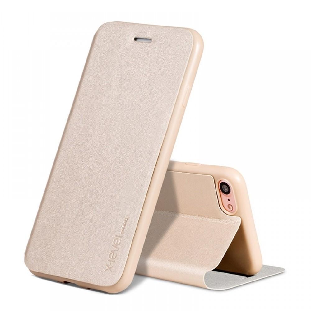 Θήκη X-Level Fib Color Flip Cover για iPhone 11 (Χρυσό)