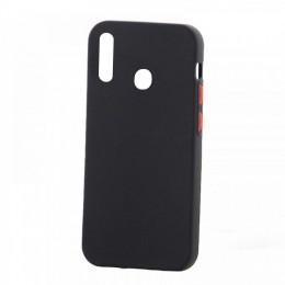 Θήκη Solid Silicone Case Back Cover για Samsung Galaxy A20s (Μαύρο)