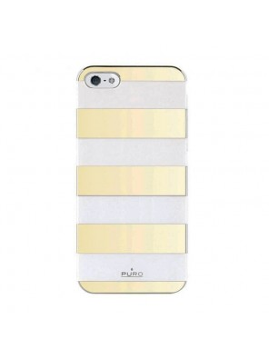Θήκη Puro Stripes Back Cover για iPhone 5/5s (Χρυσό)