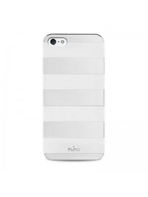 Θήκη Puro Stripes Back Cover για iPhone 5/5s (Ασημί)
