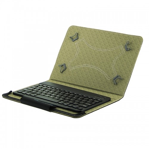 Θήκη Tablet Flip Cover με Αποσπώμενο Bluetooth Πληκτρολόγιο για Universal 10'' (Μαύρο)