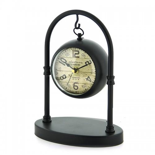 Μεταλλικό Διακοσμητικό Κρεμαστό Επιτραπέζιο Ρολόι London (Μαύρο)
