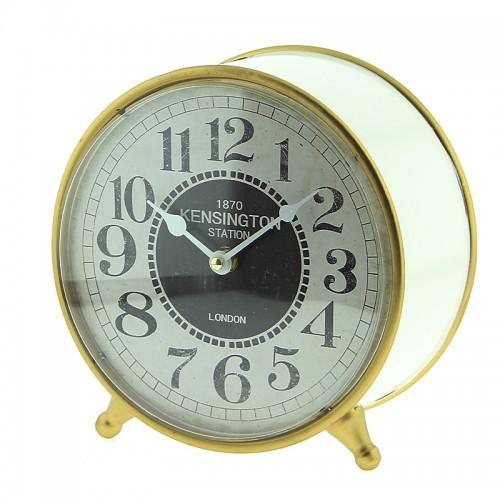 Μεταλλικό Επιτραπέζιο Διακοσμητικό Ρολόι Kensington London (Άσπρο)