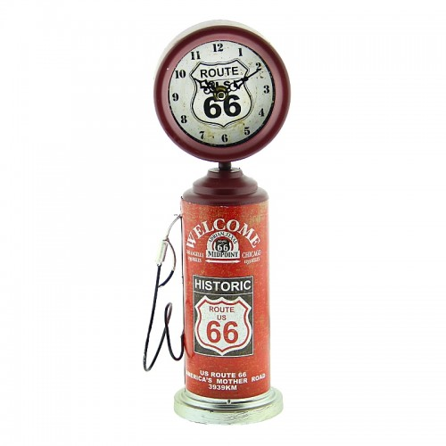 Μεταλλικό Ρολόι Αντλία Βενζίνης (Κόκκινο)