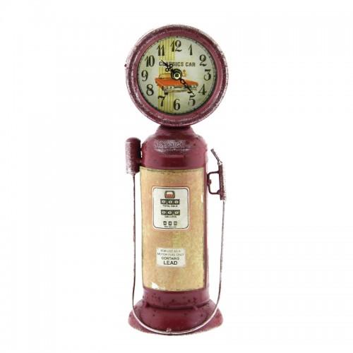 Μεταλλικό Ρολόι Αντλία Βενζίνης Classics (Κόκκινο)