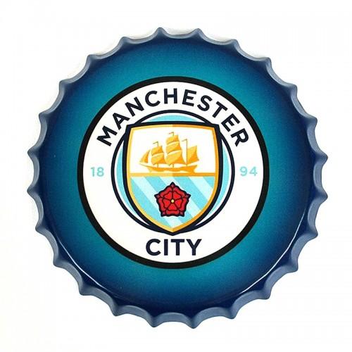Διακοσμητικό Τοίχου Καπάκι Manchester City FC (Design)