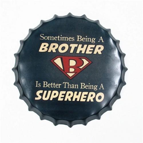 Διακοσμητικό Τοίχου Καπάκι Superhero Brother (Design)