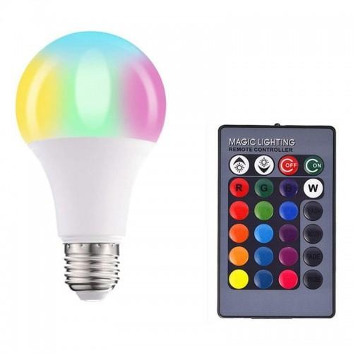 LED Colorful Lamp Α70 RGBW 10W με τηλεχειριστήριο (Άσπρο)