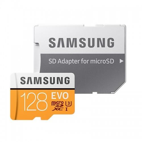 Κάρτα Μνήμης MicroSDXC 128GB Samsung EVO UHS-I U3 with adapter