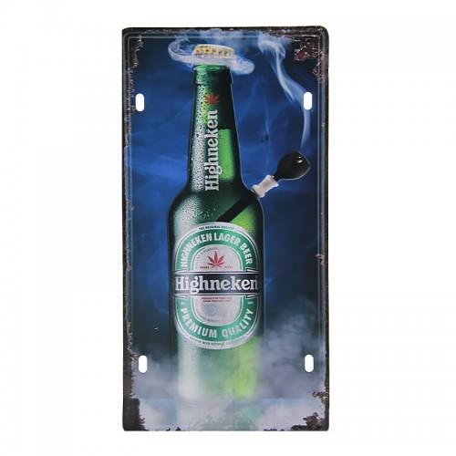 Μεταλλική Διακοσμητική Πινακίδα Τοίχου Highneken Magic 15X30