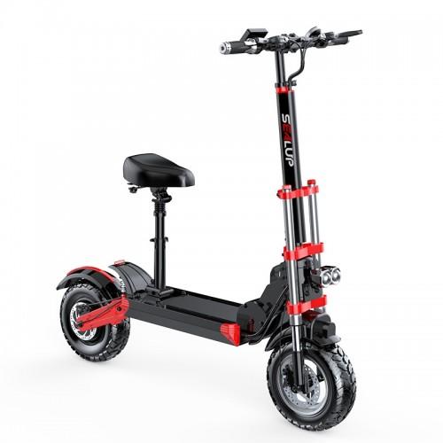 Electric Scooter Q18 500W (Μαύρο - Κόκκινο)