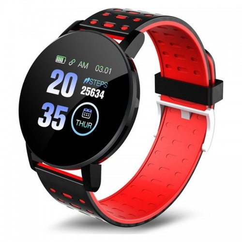 Smartwatch 119 Plus (Μαύρο - Κόκκινο)