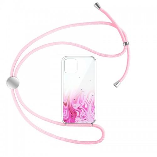 Θήκη Star Pink Cord Design 1 Back Cover για iPhone 12 Pro Max (Design)