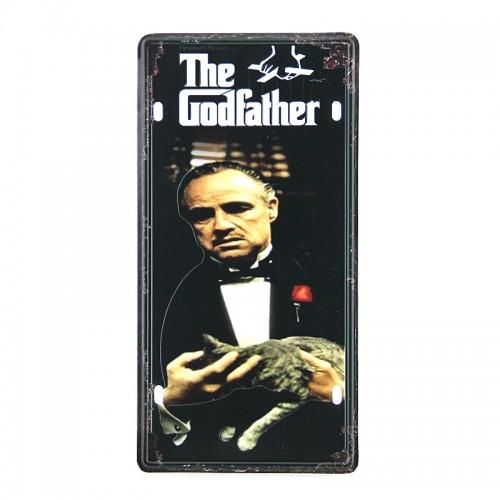 Μεταλλική Διακοσμητική Πινακίδα Τοίχου The Godfather 2 15X30 (Design)