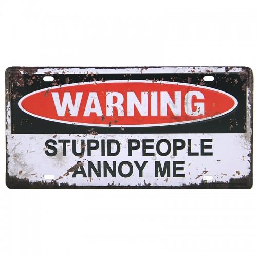 Μεταλλική Διακοσμητική Πινακίδα Τοίχου Warning 2 15X30