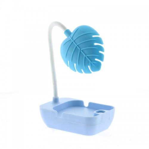 Επιτραπέζιο Φωτιστικό Led σε Σχήμα Φύλλο (Γαλάζιο)