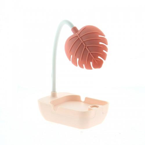 Επιτραπέζιο Φωτιστικό Led σε Σχήμα Φύλλο (Ροζ)