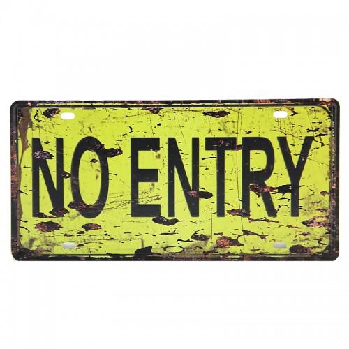 Μεταλλική Διακοσμητική Πινακίδα Τοίχου No Entry 15X30