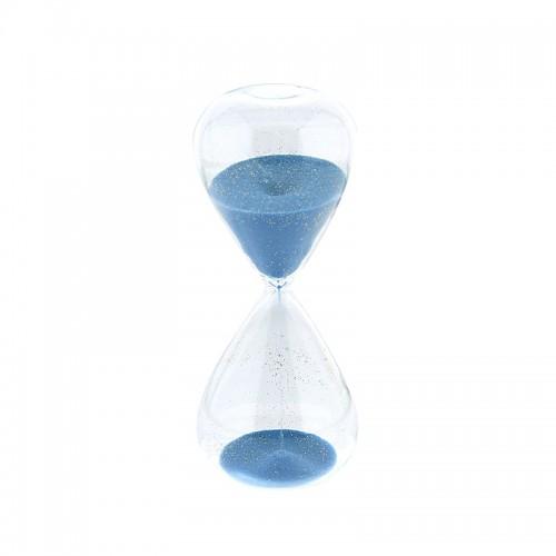 Γυάλινη Κλεψύδρα 15 Λεπτών (Γαλάζιο)