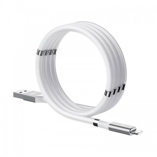 Μαγνητικό Καλώδιο Φόρτισης Remax USB to Lightning RC-125i (Άσπρο)