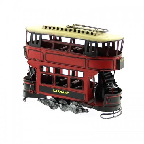 Μεταλλικό Διακοσμητικό Τραμ Carnaby (Κόκκινο)