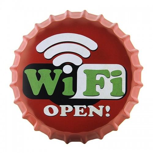 Μεταλλικό Διακοσμητικό Τοίχου Καπάκι WiFi Signal Open (Design)
