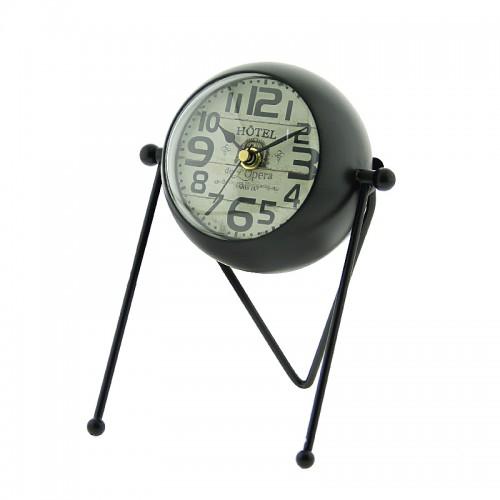 Μεταλλικό Διακοσμητικό Επιτραπέζιο Ρολόι - Καθρέπτης Hotel de l'Opera (Μαύρο)