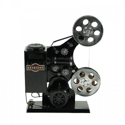 Μεταλλική Διακοσμητική Vintage Μηχανή Προβολής (Μαύρο)