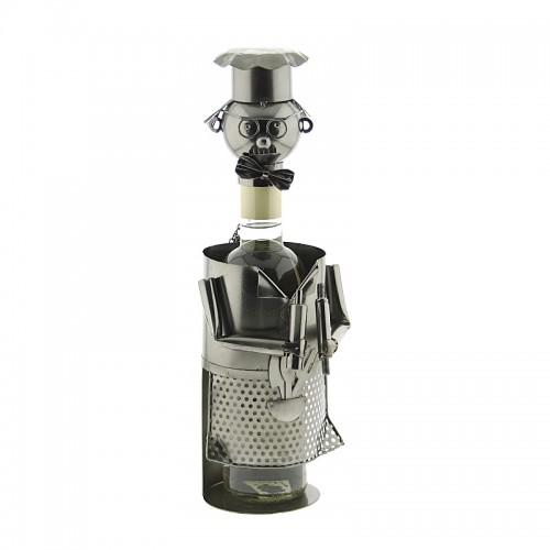 Μεταλλική Θήκη Κρασιού με Σχήμα Μάγειρας (SA-23) (Design)